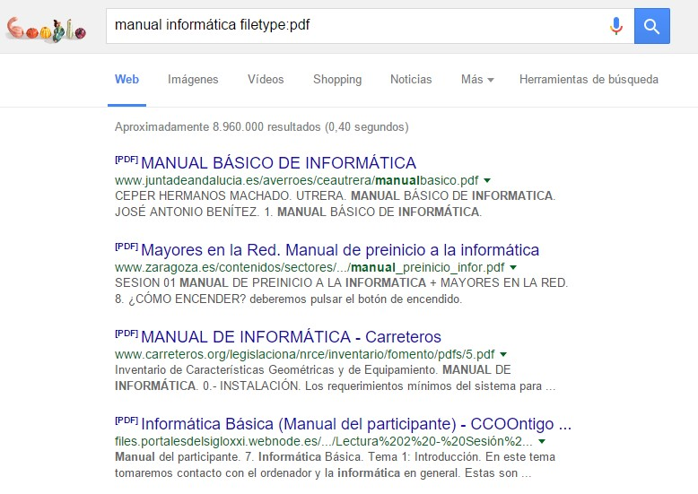 buscar extension o formato google