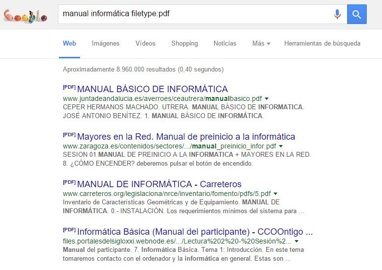 buscar extension o formato google