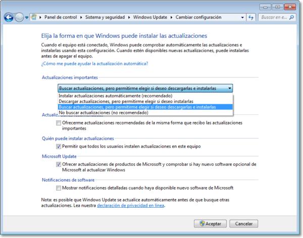 desactivar descarga Windows 10