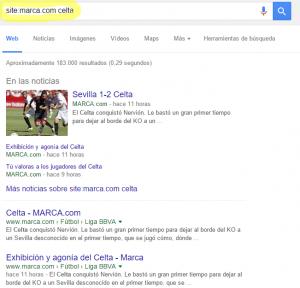 filtrar web google