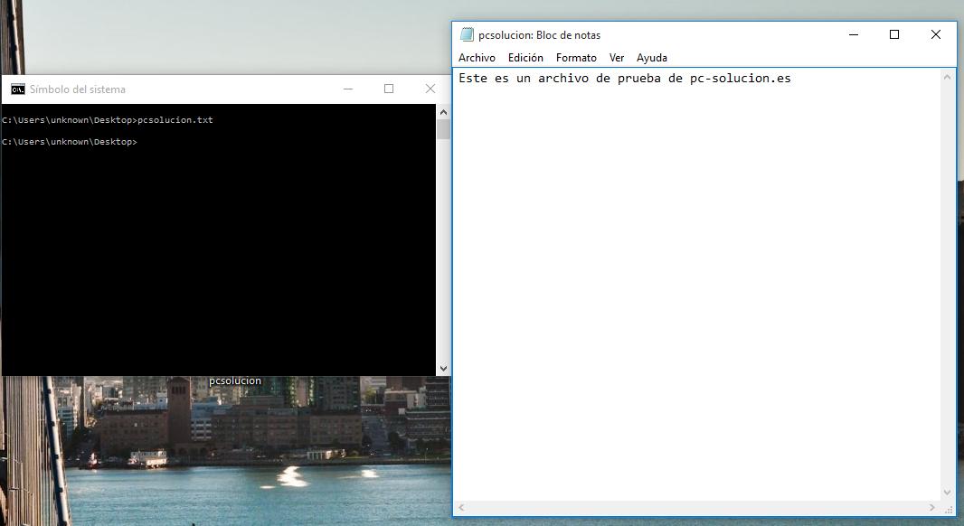 abrir archivo de texto desde terminal