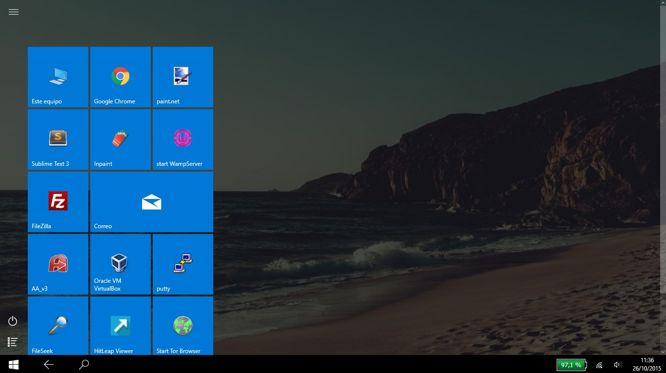 activar modo tableta Windows 10