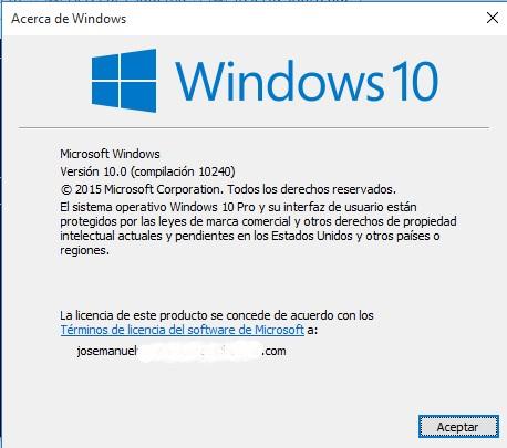 comando cmd versión de windows