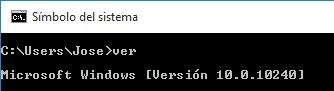 comando versión de windows