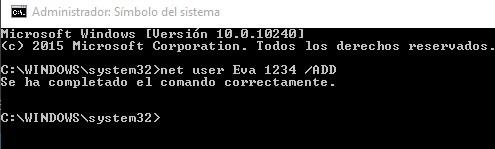 comandoañadir usuarios windows