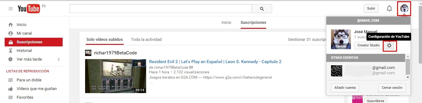 desactivar anotaciones youtube