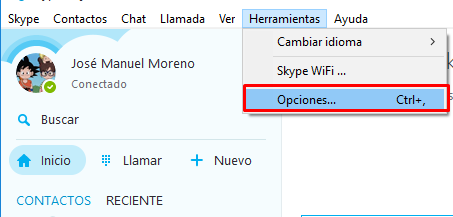 minimizar skype area notificación