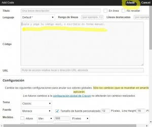 plugin insertar codigo