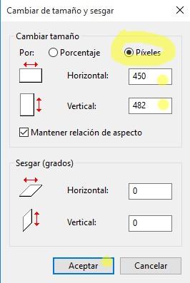 Reducir o aumentar tamaño a una imagen