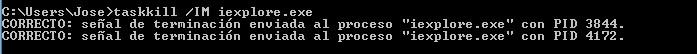 matar un proceso en windows