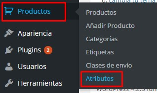 tallas productos woocommerce