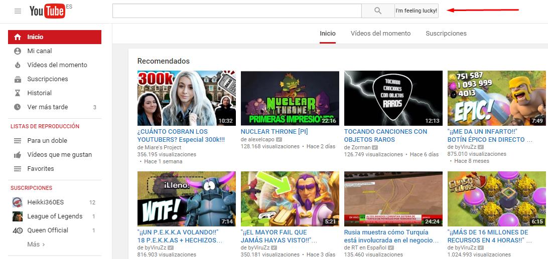 voy a tener suerte youtube