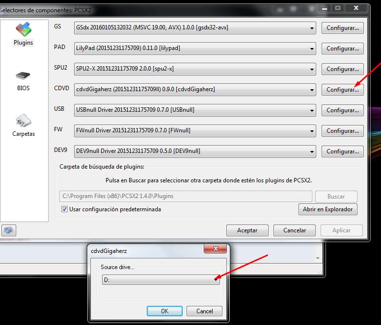 arrancar juego desde disco emulador pcsx2