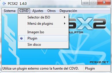 arrancar juego desde dvd pcsx2