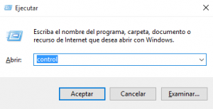 comando panel de control windows