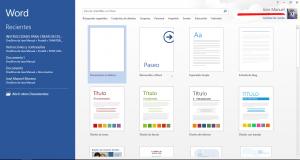 desactivar página inicial Office 2013