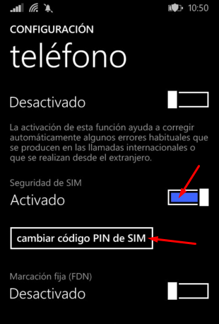 desactivar pin windows phone