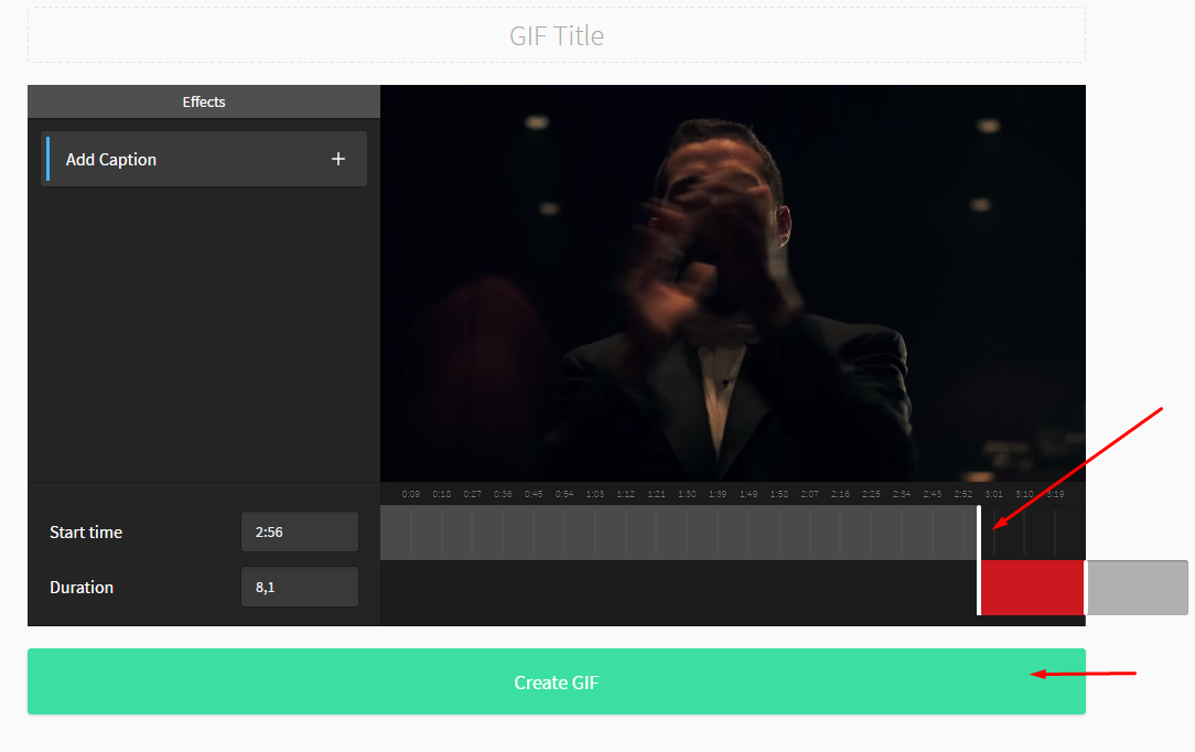 convertir video de youtube a gif