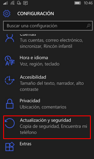 activar encontrar mi teléfono windows
