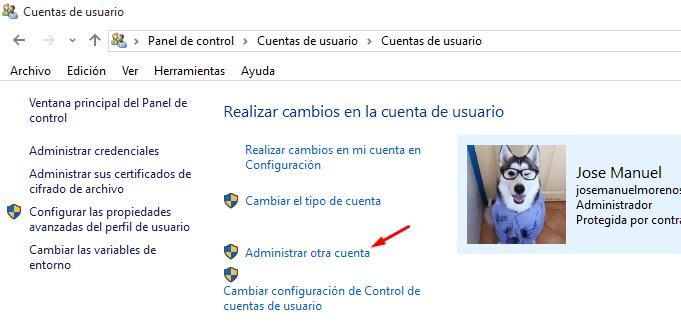 borrar usuario windows 10
