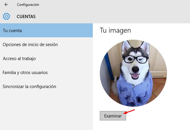 cambiar foto cuenta usuario windows 10