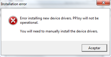 installation error ppjoy