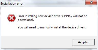 installation error ppjoy