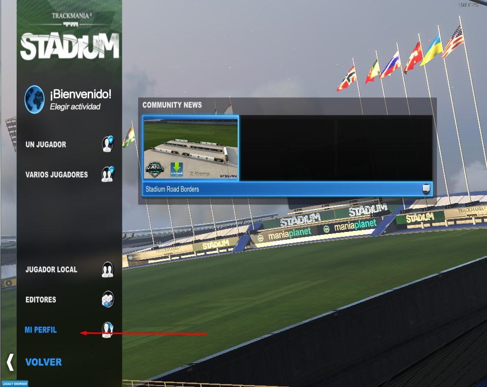 ver coódigo de jugador trackmania 2 stadium