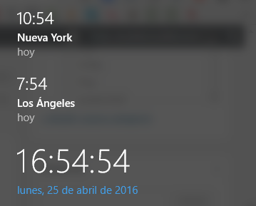 ver hora otro pais en Windows 10