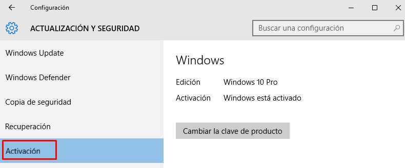 ver si windows está activado