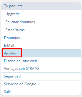 crear base de datos en hosting strato