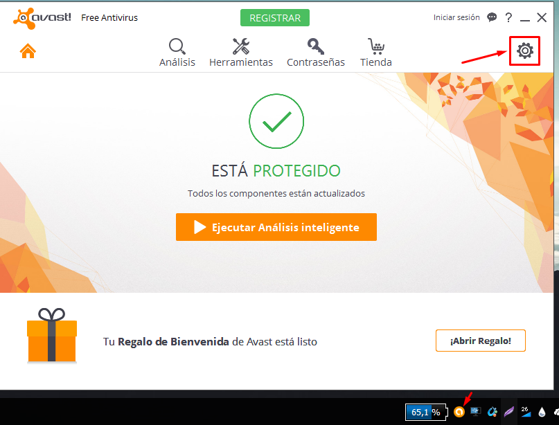 desactivar software updater avast 2016