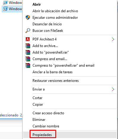 powershell como administrador windows 10