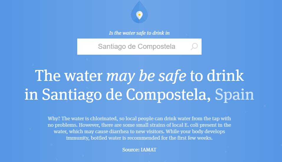 saber si el agua es potable en una ciudad
