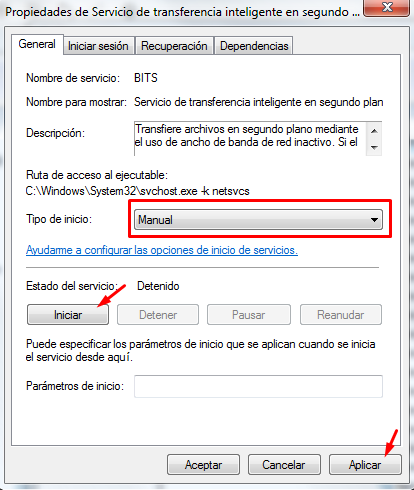solucion código de error 80244019