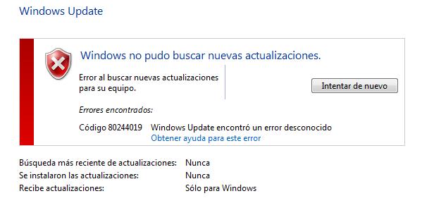 solucion error 8024419