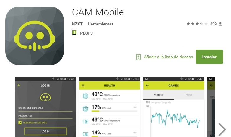 monitorizar pc smartphone