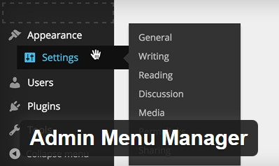 ordenar menu administrador wordpress