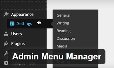 ordenar menu administrador wordpress