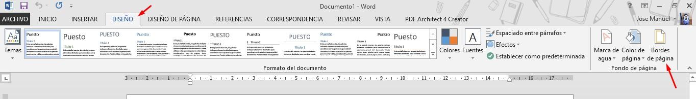 bordes de página word