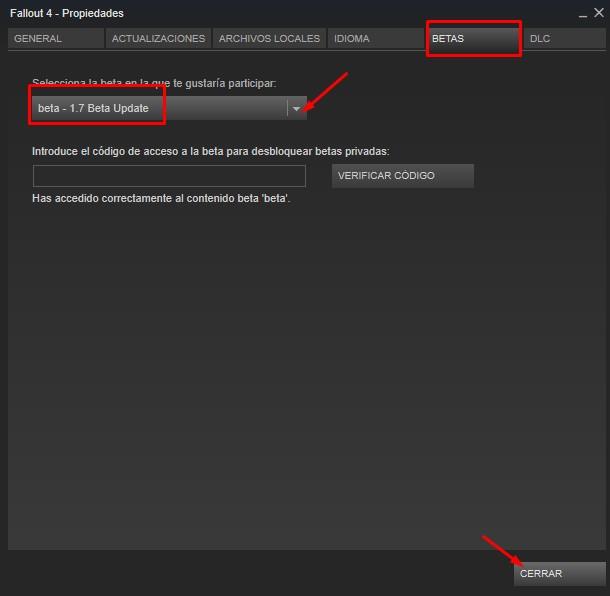 conseguir acceso beta de parches fallout 4