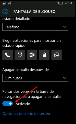 activar-doble-tap-bloquear-windows-10-mobile