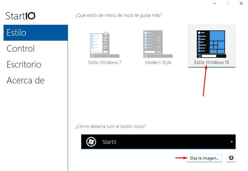 cómo cambiar la imágen del botón de inicio en Windows 10