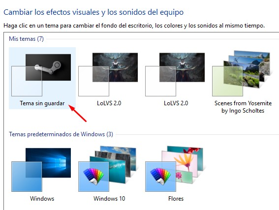 coómo se instala un tema en Windows 10