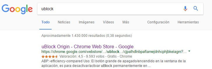 instalar ublock-chrome
