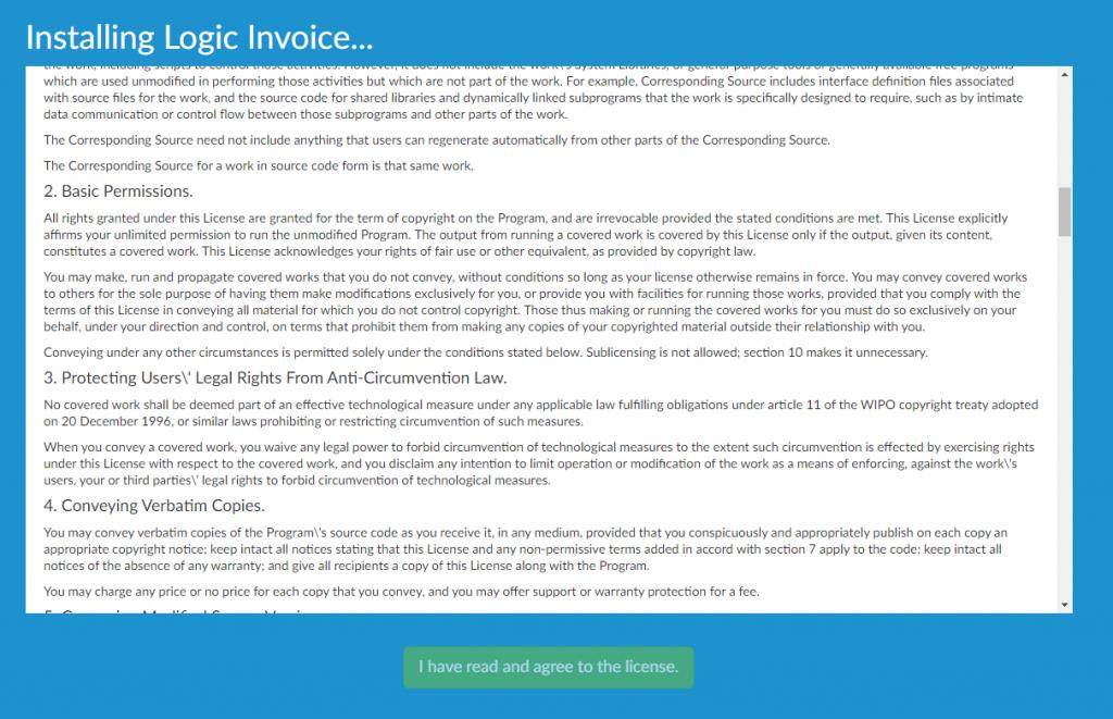Instalación de Logic Invoice