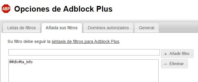 filtros adblock