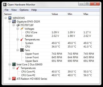 temperatura de cpu
