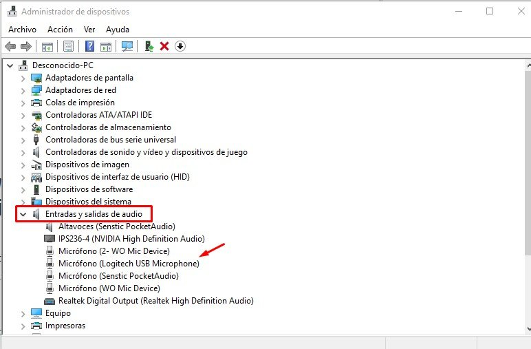 desactivar el micrófono en Windows 10