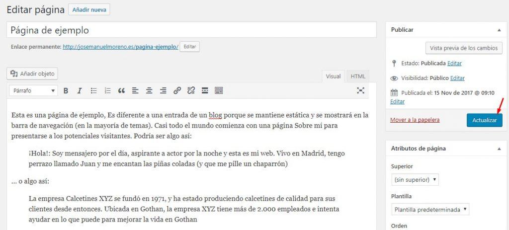 Creación y edición de páginas y entradas en WordPress – Pc Solucion